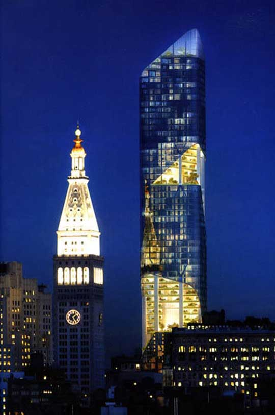 New York Garden Tower by Daniel Libeskind