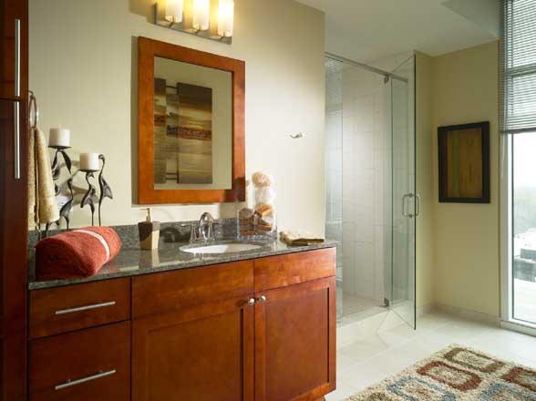 Sumptuous baths granite vanities