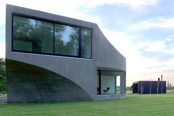 contemporary residence design concrete house