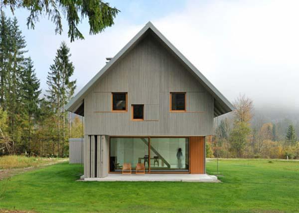 Contemporary small home design in Alpine Slovenia
