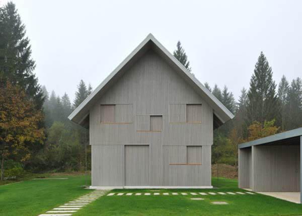 Contemporary small house design in Alpine Slovenia