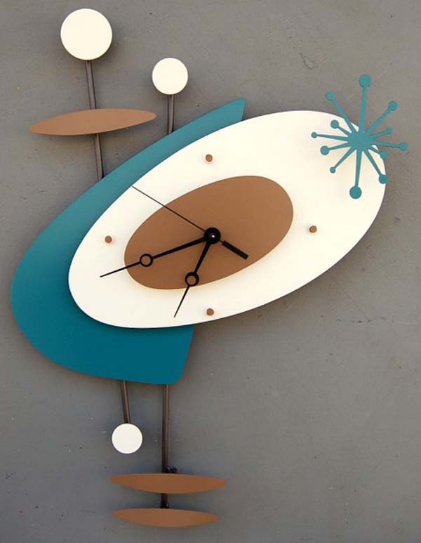 retro wall art clock