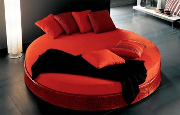 red bed design idea