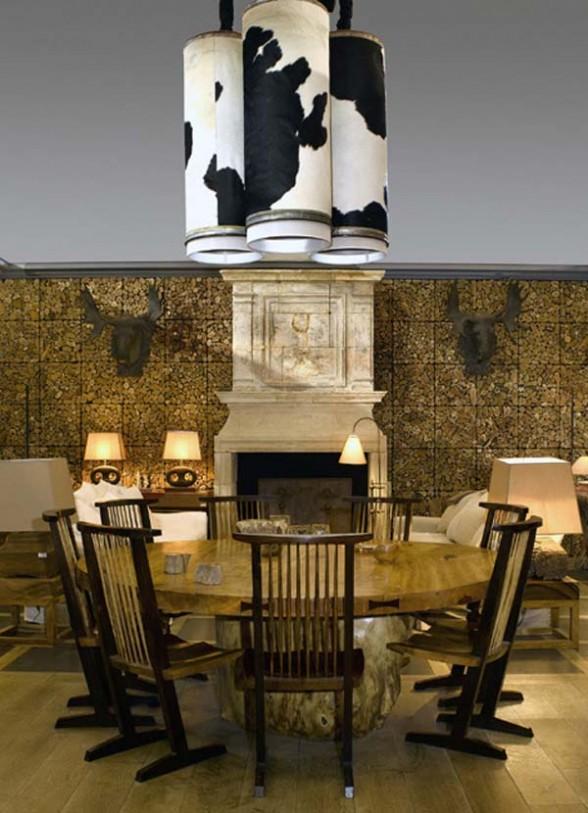 dining room lamp shades cow