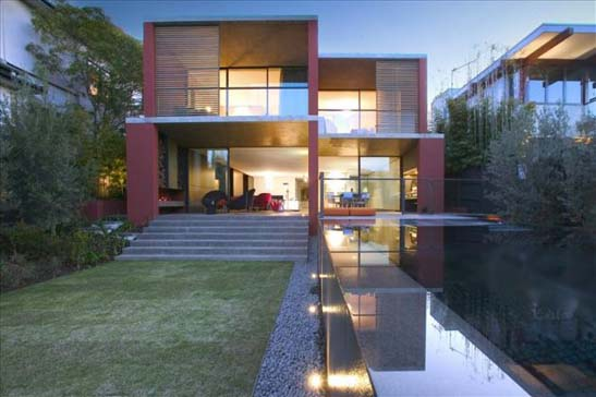 Stylishly Modern Two-Story House Design | Contemporary Homes ...