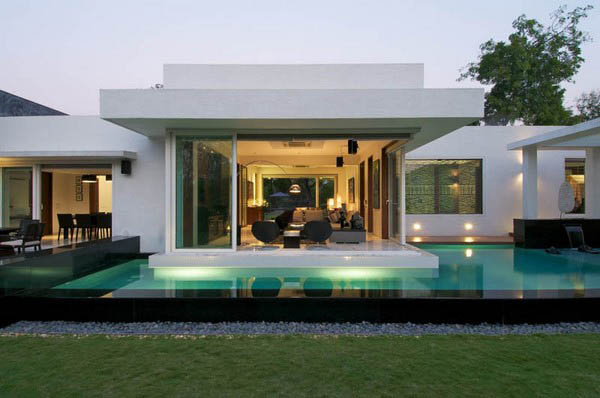 Stylish Modern Home Dinesh Mills Bungalow | Contemporary Homes ...