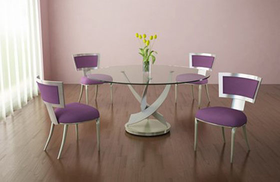 puple chair-dining-set