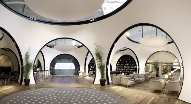 Interior design-Airlines lounge-Turkish Airlines