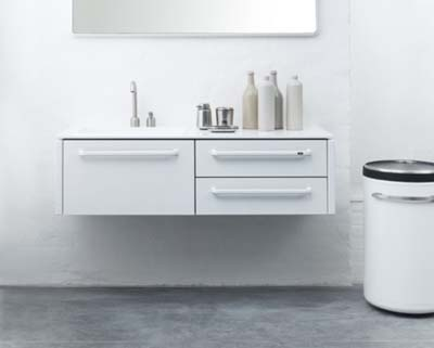 minimalist white bathroom furniture
